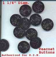 Peacoat Buttons