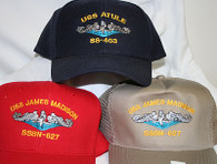 Custom Submarine Ball Caps with your boat.