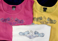 Crystal Dolphins Shirts, tank top, wide strap