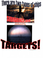 Target T-Shirt: Photo Submarine and Target Two types of ships Shirt