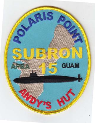 Guam Patch, Subron 15, Polaris Point,Andy's Hut. copyright gil raynor, submarinesshop.com