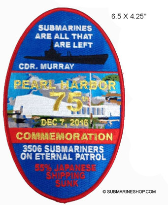 PEARL HARBOR MEMORIAL PATCH. Limited qty remaining
