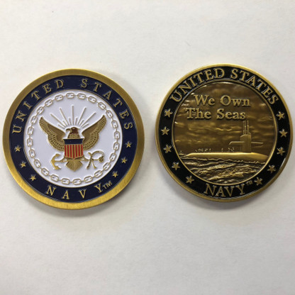 We Own The Seas, Submarine Image Challenge Coin