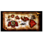 Brown Hawaiian Map Beach Towel