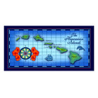 Blue Hawaiian Map Beach Towel