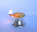 Sterling silver ghee lamp