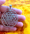 Silver Shri Yantra Pendant  (ITEM OUT OF STOCK)