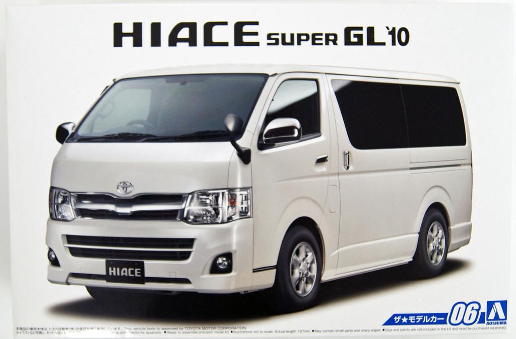 Aoshima 51573 The Model Car 06 TOYOTA TRH200V Hiace Super GL '10 1/24 Scale Kit