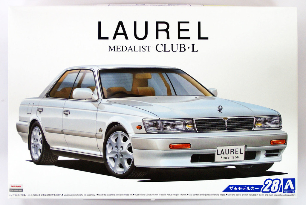 Aoshima 52341 The Model Car 28 Nissan HC33 Laurel Medalist CLUB L '91 1/24 scale