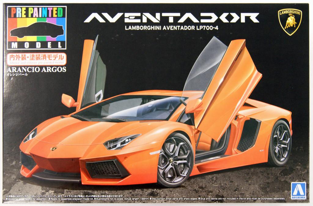 Aoshima 11386 Lamborghini Aventador LP700-4 (Orange Pearl) 1/24 scale kit (Pre-painted Model)