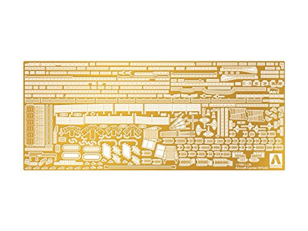Aoshima 12376 IJN Light Aircraft Carrier Ryujo Deck Sheet & Photo Etched Parts 1/700 Scale