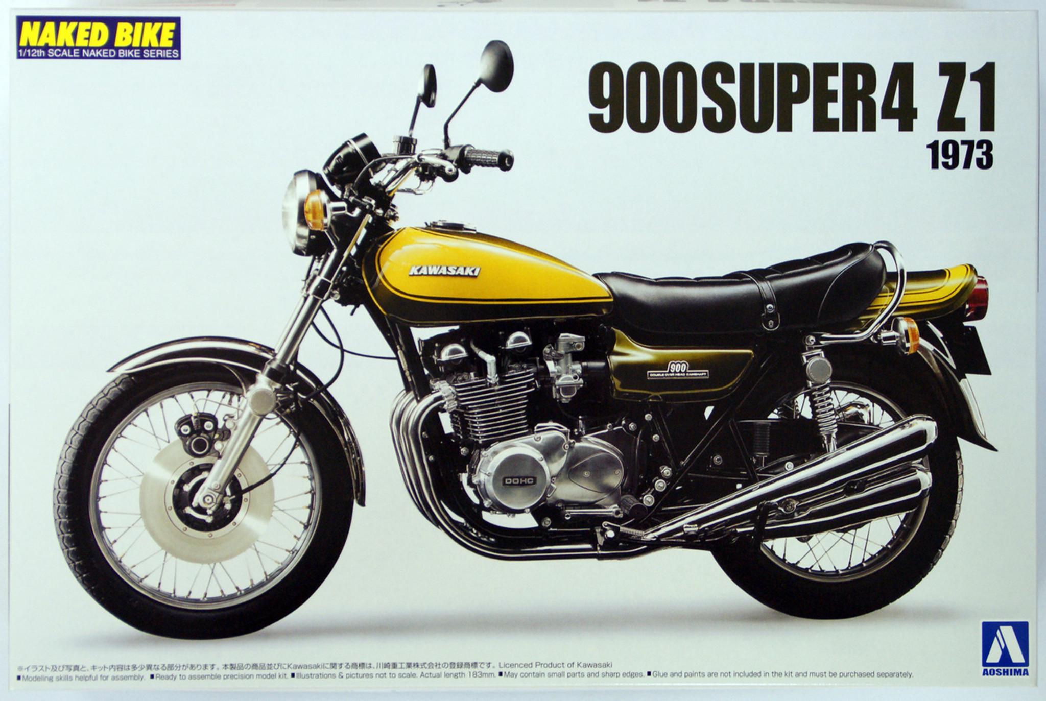 Aoshima Naked Bike 63 44421 Kawasaki 900 Super4 Z1 1/12