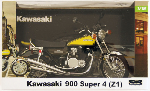 Aoshima Skynet 80962 Kawasaki 900 Super 4 (Z1) Yellow Ball 1/12 Scale