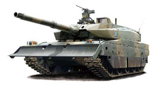 Fujimi 72M-3 JGSDF Type10 Tank Prototype No.3 Normal/Dozer 4968728722887 1/72