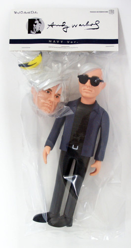 Medicom VCD-233 This is ANDY Andy Warhol Navy Ver. Vinyl Figure