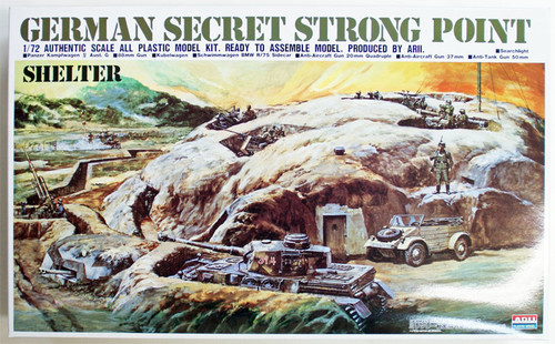 Arii 444818 German Secret Strong Point (Shelter) 1/72 Scale Kit (Microace)