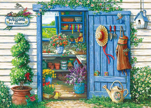 APPLEONE Jigsaw Puzzle 500-238 Janet Kruskamp Welcome To My Garden (500 Pieces)