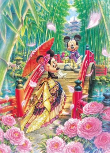 Tenyo Japan Pure White Jigsaw Puzzle DPG-266-572 Disney Mickey & Minnie Wedding  (266 Pieces)
