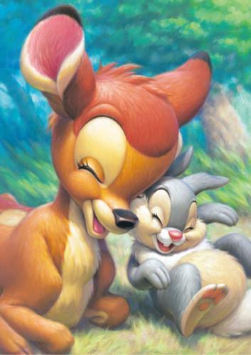Tenyo Japan Jigsaw Puzzle DSG-266B-792 Disney Bambi & Thumper (266 Pieces)
