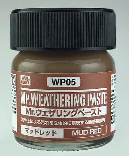 GSI Creos Mr.Hobby WP05 Mr. Weathering Paste Mud Red (40 ml)