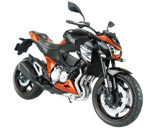 Aoshima Skynet 85653 Kawasaki Z800 Orange 1/12 Scale Model