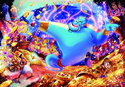 Tenyo Japan Jigsaw Puzzle D-1000-474 Disney Aladdin & Genie (1000 Pieces)