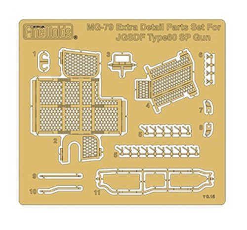 Fine Molds MG79 Detail Up Parts for JGSDF Type 60 Self-propelled 106 mm Recoilless Gun Type C 1/35 scale