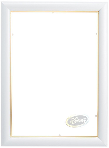 Tenyo Japan Stained Art Jigsaw Puzzle Disney Frame White for 266 Small Pieces  (18.2 x 25.7cm) 907191