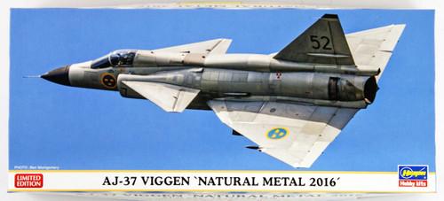 """Hasegawa 02232 AJ-37 Viggen """"Natural Metal 2016"""" 1/72 scale kit"""