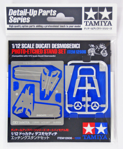 Tamiya 12606 Ducati Desmosedici Photo-Etched Stand Set 1/12 Scale Kit