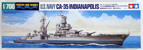Tamiya 31804 US Navy CA-35 Indianapolis 1/700 Scale Kit