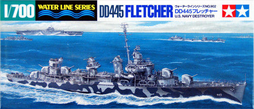 Tamiya 31902 US Navy Destroyer DD445 Fletcher 1/700 Scale Kit