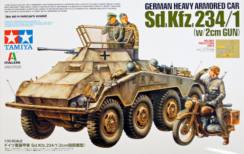 Tamiya 37019 German Heavy Armored Car Sd.Kfz.234/1 (with 2cm Gun) 1/35 Scale Kit
