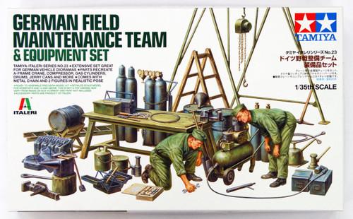 Tamiya 37023 German Field Maintenance Team & Equipment Set 1/35 Scale Kit