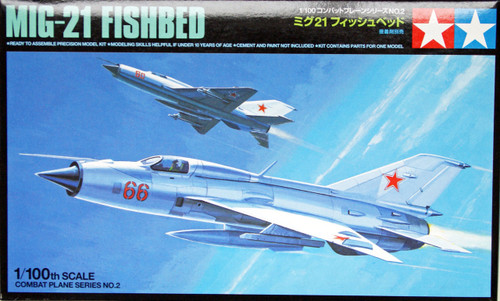 Tamiya 61602 Combat Plane Series No.2 MIG-21 Fishbed 1/100 Scale Kit