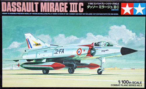 Tamiya 61603 Combat Plane Series No.3 Dassault Mirage III C 1/100 Scale Kit