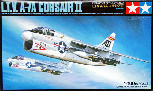Tamiya 61607 Combat Plane Series No.7 L.T.V. A-7A Corsair II 1/100 Scale Kit