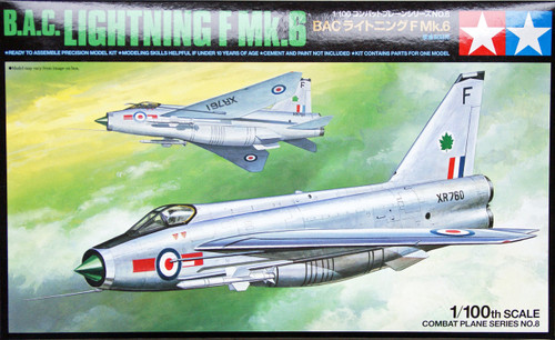 Tamiya 61608 Combat Plane Series No.8 B.A.C. Lightning F Mk.6 1/100 Scale Kit
