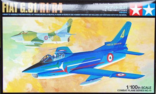 Tamiya 61610 Combat Plane Series No.10 FIAT G.91/R1/R4 1/100 Scale Kit