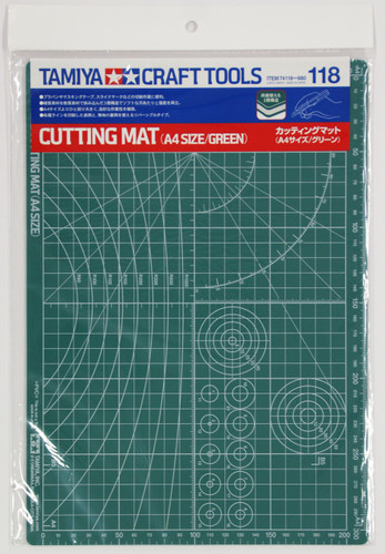 Tamiya 74118 Craft Tools - Cutting Mat  A4 Size / Green