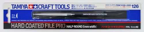 Tamiya 74126 Craft Tools Hard Coated File PRO (Half-Round 5mm Width)