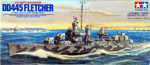 Tamiya 78012 US Navy Destroyer DD445 Fletcher 1/350 Scale Kit