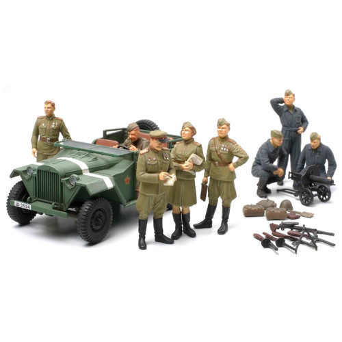 Tamiya 89767 Russian Field Car GAZ-67B with Officers 1/48 Scale Kit