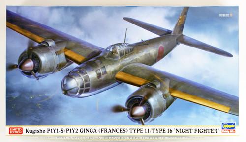 Hasegawa 02230 Kugisho P1Y1-S/P1Y2 Ginga (Frances) Type 11/ 16 1/72 scale kit