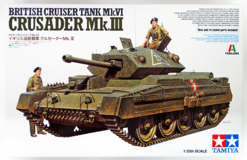 Tamiya 37025 British Cruiser Tank Mk.VI Crusader Mk.III 1/35 scale