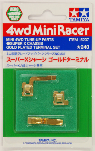 Tamiya 15237 Mini 4WD Super X Chassis Gold Plated Terminal Set