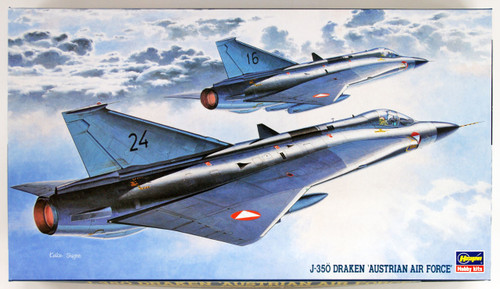 Hasegawa BP2 J-35Ö Draken Austrian Air Force 1/72 scale kit
