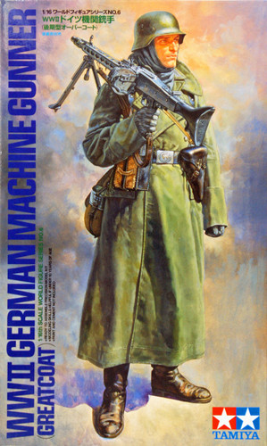 Tamiya 36306 WWII German Machine Gunner Greatcoat 1/16 Scale Figure