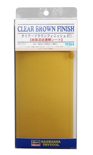 Hasegawa TF-914 Clear Brown Finish 1 sheet (90 x 200mm)