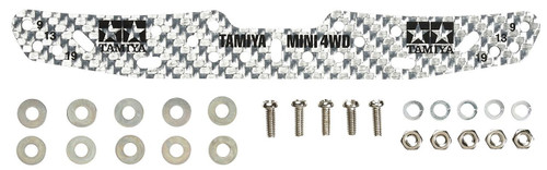 Tamiya 95305 Mini 4WD Multi Roller Setting Stay HG Carbon 1.5 mm Silver